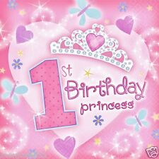 1st Birthday Princess Lunch Dinner Napkins 36pcs Party Supplies Tableware