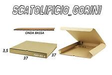 10 PZ SCATOLA CARTONE 37x37x3 ,5 FUSTELLATA IMBALLO  SPEDIZIONE BAULETTO