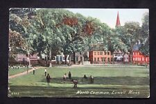 c.1914 Postcard Kids Playing on the North Common in, Lowell, Mass. - Posted