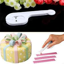 Fondant Cake Embosser Cutter Icing Decorating Wheel Gum Paste Sugarcraft ToolLAN