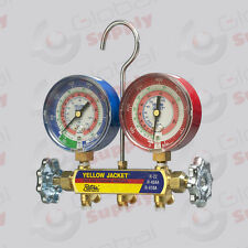 """Yellow Jacket 42005 - Series 41 Manifold Only, 3-1/8"""" Gauges, R22/134A/404A, °F"""