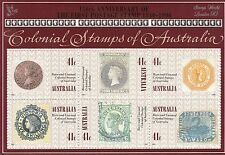 Australia 1990 SG MS 1253 MUH,150 Anniv of Penny Black, Silver Overprint London