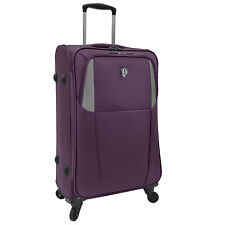 "Traveler's Choice Forza 27"" Purple Ultra Light Spinner Luggage Travel Suitcase"