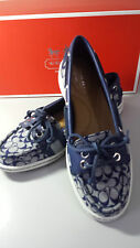 New Coach Signature Boat Shoes Size 5.5