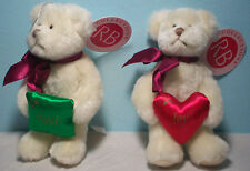 Russ Berrie Christmas Ornaments White Bear (2) Noel, Joy Pillows Target w tags