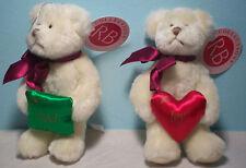 Russ Berrie Christmas Ornaments White Bear (2) Noel, Joy Pillows Target w tags