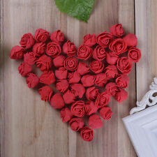 50Pcs Fake Artificial  Foam Rose Flower Heads Blossom Party Home Room Decor
