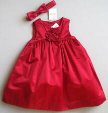 NWT Gymboree Outlet Girls 18 24 Mo Red Rosette Dress & Headband Formal Party