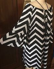 WOMENS PLUS DRESS 2X TUNIC TOP NEW 18 20 XXL NWT OFF SHOULDER CUTE SPRING DEAL