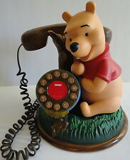 Winnie the Pooh Disney Talking Push Dial Phone Working Telemania Vintage 1990's