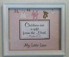 "Bible Verse-Scripture Plaque Christian""CHILDREN ARE A GIFT""For It's A Girls Baby"