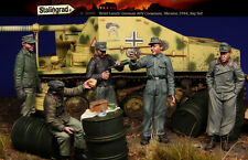 1/35 Scale Resin Figure kit ~ WW2 German AFV crew, Big Set 5 figures