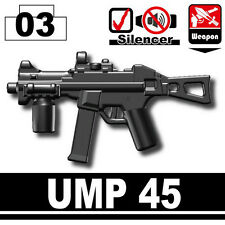 UMP 45 (W220) Sub Machine Gun minifigure compatible with toy brick minifigures