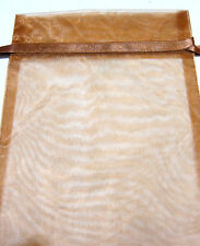 Brown Organza Drawstring Pouch 9x8in QTY1 Gift Jewelry Wedding Crystals Bag