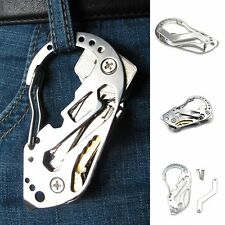 EDC Pocket Multi Function Tools Set Mini Keychain Screwdriver Wrench Carabiner