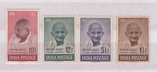 INDIA 1948 GHANDI SET COMPLETE TO 10 RUPEES MOUNTED MINT HIGH CV