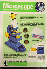KIDS MICROSCOPE SET WITH LIGHT SCIENCE NATURE LABORATORY FUN LEARN GIFT TOYS NEW