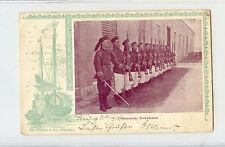 China 1901 Imperial Army Rifle Solders Army Feld Post Post Card VERY RARE