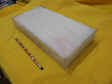 "WHITE UHMW BAR machineable plastic flat stock rectangle 2"" x 6"" x 12"" OAL"