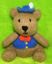 KNITTING PATTERN - Bertie Bear chocolate orange cover / 16 cms teddy toy