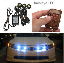 12W Car Strobe 4 LED Hazard Emergency Warning Traffic Advisor Flash Light Kit