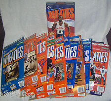 Lot 13 WHEATIES Boxes 1996 OLYMPICS NFL All Stars SUPER BOWL REPLAYS MLB More