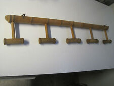 Vintage - porte-manteaux en bois forme bambou 5 support design 50's