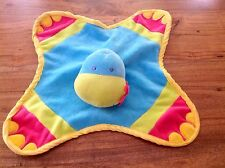 KEEL TOYS DINKY DINO Blue Velour Baby Comforter Blankie Soft Toy Rattle