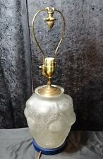 Lalique Domremy Vase Lamp Frosted Thistle And Leaves Works Perfectly