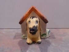 Vintage Dog in Dog House Salt and Pepper Shakers - Japan - Dachshund?