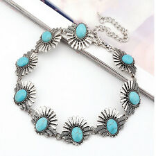 Chic Boho Ethnic Retro Style Statement Bohemian Crystal Collar Choker Necklace