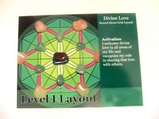 """Healing Crystal Grid Card DIVINE LOVE 4x5"""" Cardstock Calm Protection Energy"""