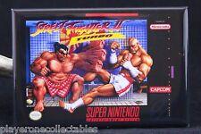 """Street Fighter 2 Turbo Super NES Game Box 2"""" X 3"""" Fridge Magnet. Nintendo"""