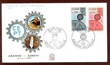 Andorra French 1967 Europa FDC #C5823
