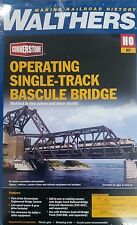 3070 Walthers Operating Motorized SingleTrack Railroad Bascule Bridge HO Scale