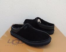 UGG NEUMAN BLACK SUEDE/ SHEEPSKIN SLIPPERS SHOES, MENS US 12/ EUR 45.5 ~ NEW