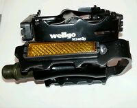 Wellgo M248DU Black Alloy Mountain Bike Bicycle MTB BMX Flat Pedals 9/16