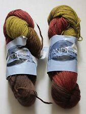 Two Hanks ANDES yarn 100% wool 200gr made in Chile