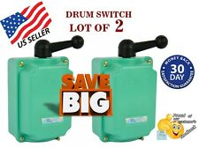 LOT OF 2 Drum Switch 60A Forward-Off-Reverse Motor Control 7.5KW - US SELLER -