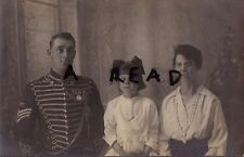 Soldier Battery Sergeant RHA Royal Horse Artillery Wears WW1 Medals with Family