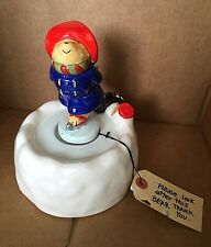 Authentic Vintage Paddington Bear Ice Skating Music Box with Original Box Japan