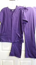 Cherokee Workwear Nurse Uniform Scrubs Set Women XS Extra Small Purple