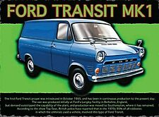 Ford Transit Mark 1 small steel sign 200mm x 150mm (og)