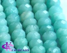 Wholesale Natural Genuine AAA Amazonite Rondelle Wheel Loose Beads Faceted 5x8mm