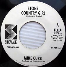 MIKE CURB Stone country girl Where the nicest people 1969 PSYCH Promo 45 E5128