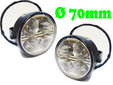 Round 4 LED Day Running Lights Front Spot Fog Lighting Lamp Part Rover Vehicles