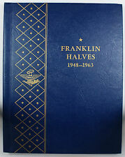 Complete 1948-63 Franklin Silver Half Dollar Collection Whitman Album 9425 Set