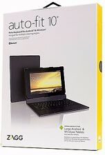 NEW ZAGG Folio Case Hinged Bluetooth Keyboard Android Tablets Auto-Fits(10-inch)