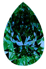 1.88 ct VS1/GREEN COLOR LOOSE PEAR REAL MOISSANITE FOR RING/PENDANT