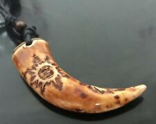 NEW Hand Carved Horn fashionTotem Necklace Unisex Mens Womens Surfer